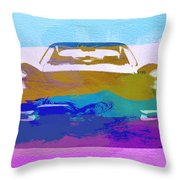Jaguar E Type Front Throw Pillow by Naxart Studio
