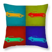 Jaguar E Type Pop Art 1 Throw Pillow by Naxart Studio