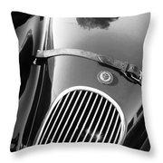 Jaguar Hood Emblem - Grille Throw Pillow by Jill Reger