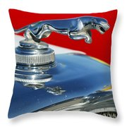 Jaguar Hood Ornament 2 Throw Pillow
