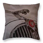 Jaguar Mk II Bonnet Throw Pillow