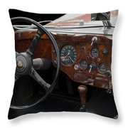 Jaguar Odtimer Steering Wheel Throw Pillow