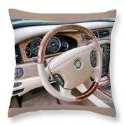 Jaguar S Type Interior Throw Pillow