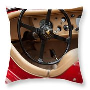 Jaguar Steering Wheel Throw Pillow by Jill Reger