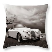 Jaguar Xk150 - Admiring The View Throw Pillow