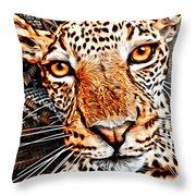Jaguareyes Throw Pillow