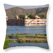 Jah Mahal Palace Throw Pillow
