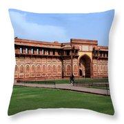 Jahangir Palace Red Fort Agra Throw Pillow