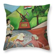 Jai Jawan Jai Kisan Throw Pillow