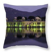 Jai Mahal Water Palace Throw Pillow