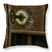 Jail Cell Door Lock  And Key Close Up Throw Pillow