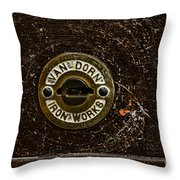 Jail Cell Door Lock Close Up Throw Pillow