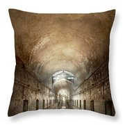 Jail - Eastern State Penitentiary - End Of A Journey Throw Pillow