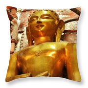 Jain Temple Amarkantak India Throw Pillow