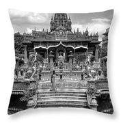Jain Temple Monochrome Throw Pillow