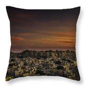 Jaisalmer Fort At Twilight Throw Pillow