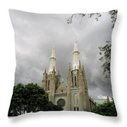 Jakarta Cathedral Indonesia Throw Pillow