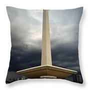 Modernism In Jakarta Throw Pillow