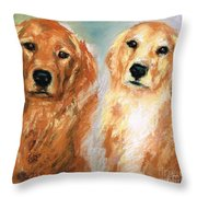 Henry And Jakie Throw Pillow