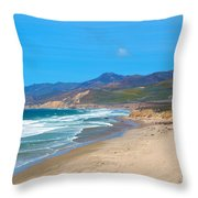 Jalama Beach Santa Barbara County California Throw Pillow