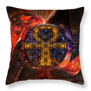 Jaliel Throw Pillow by Mynzah Osiris