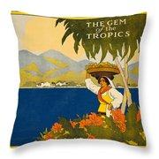 Jamaica The Gem Of The Tropics Throw Pillow