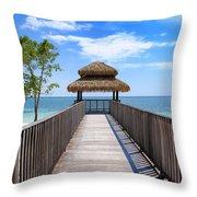 Jamaican Paradise Throw Pillow
