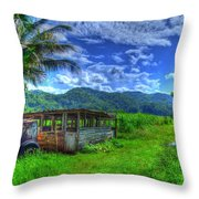 Jamaican Sky Throw Pillow