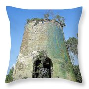 Jamaican Sugar Mill Throw Pillow
