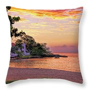 Jamaican Sunset Throw Pillow