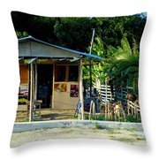 Jamaican's Party Store Throw Pillow