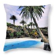 Jameos Del Agua On Lanzarote Throw Pillow