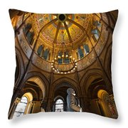 James A Garfield Monument Throw Pillow
