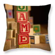 James - Alphabet Blocks Throw Pillow