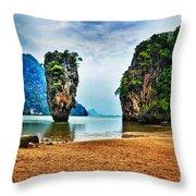 James Bond Island Throw Pillow