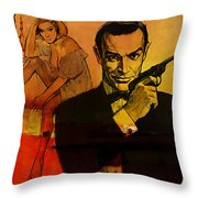 James Bond Throw Pillow