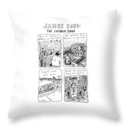 James Bond: The Cutback Years Throw Pillow