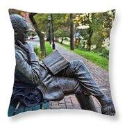James Bradley Statue 9882 Throw Pillow