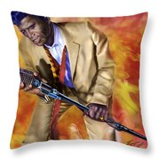 James Brown And His Famous Flames Throw Pillow