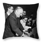 James Cagney Dublin 1958 Throw Pillow