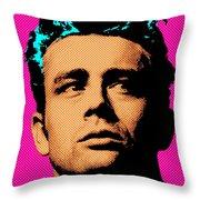 James Dean 001 Throw Pillow