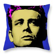 James Dean 002 Throw Pillow