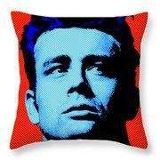 James Dean 005 Throw Pillow