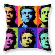 James Dean 006 Throw Pillow