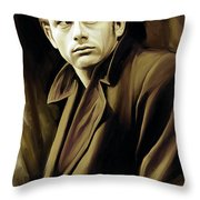 James Dean Artwork Throw Pillow