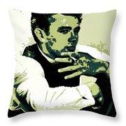 James Dean Poster Art Throw Pillow