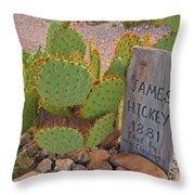 James Hickey Shot  Throw Pillow