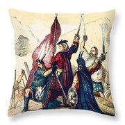 James IIi Lands In Scotland, 1715 Throw Pillow