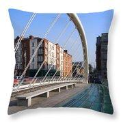 James Joyce Bridge In Dublin Throw Pillow