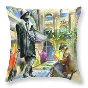 James Joyce Throw Pillow